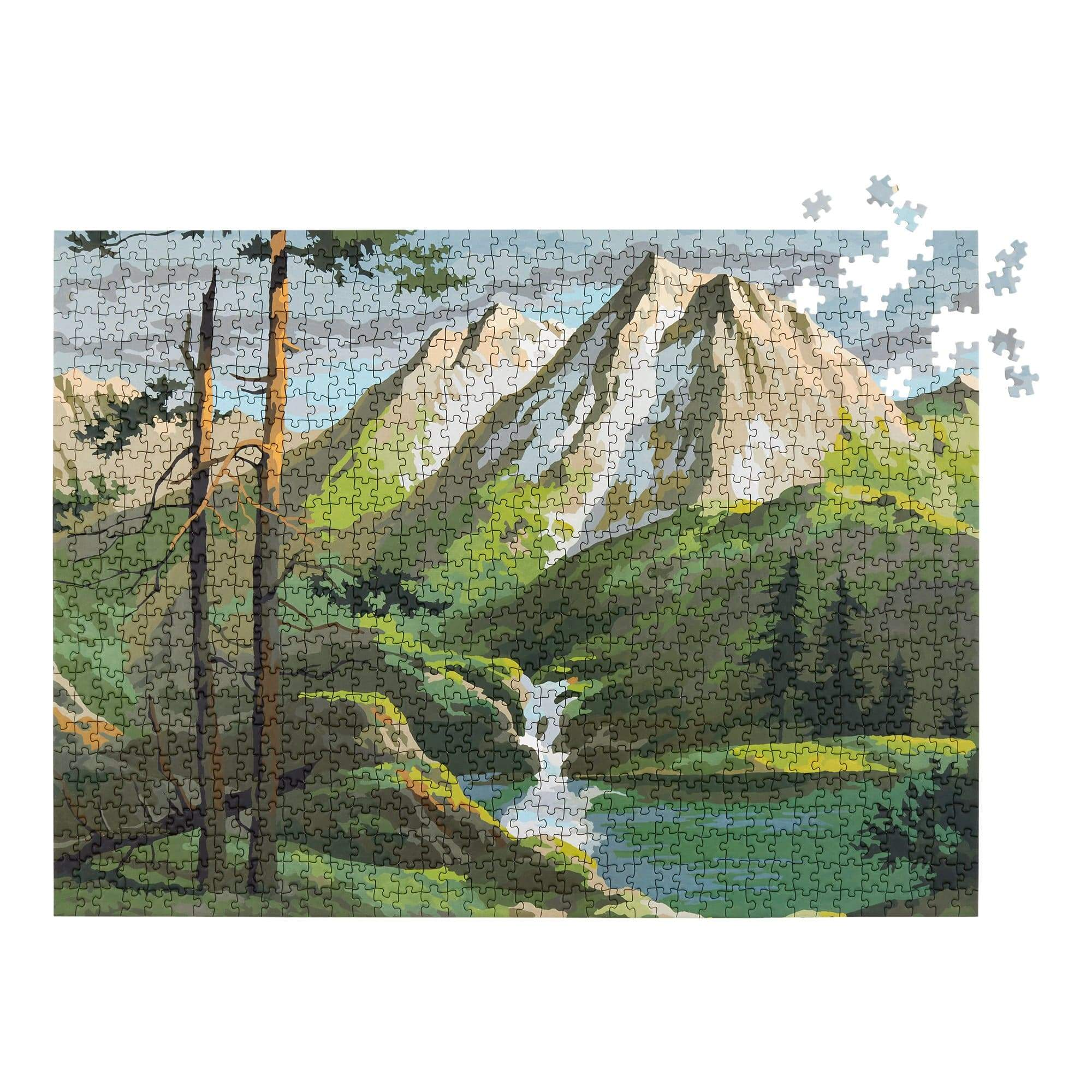 Mountains Paint by Numbers Puzzle