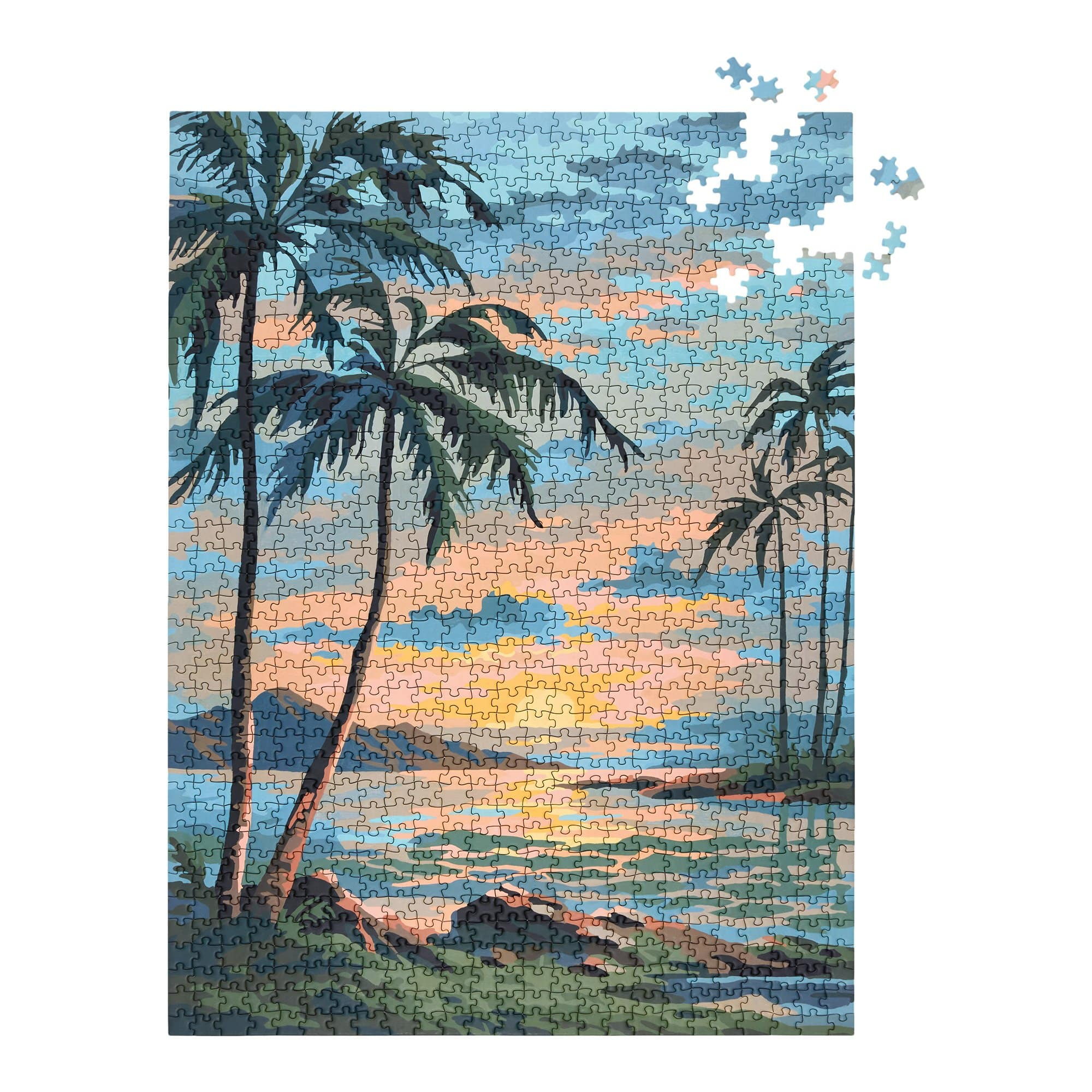 Tropics Paint by Numbers Puzzle