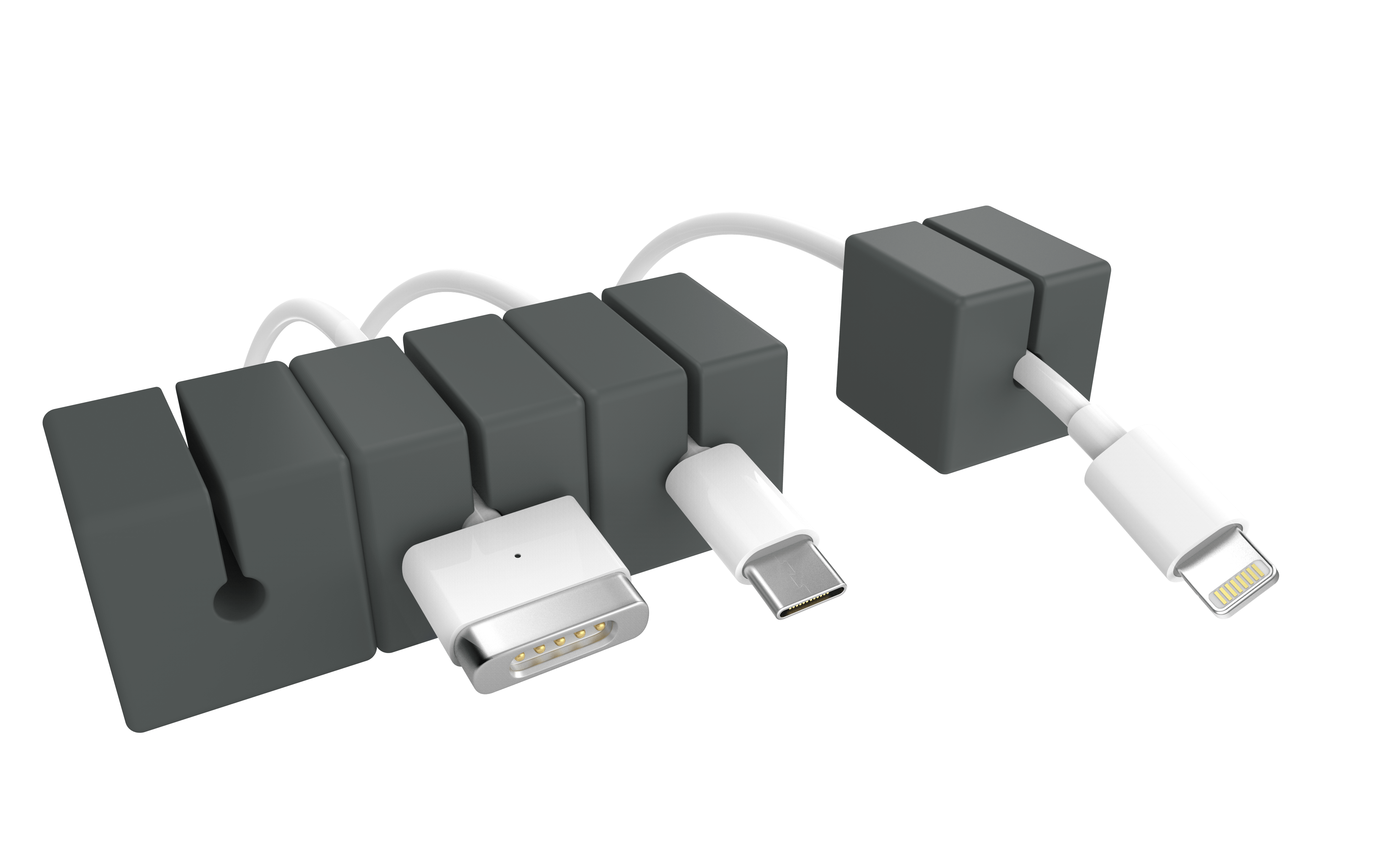 Grey Cable Blocks 4 Pack