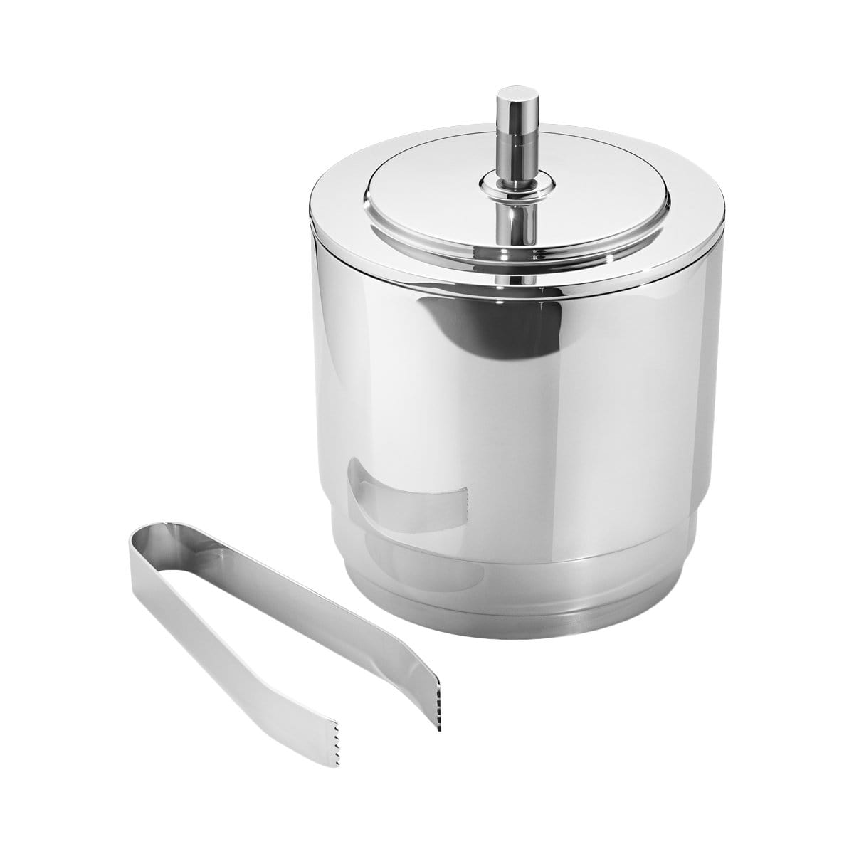 Georg Jensen Bar Accessories + Tools Manhattan Stainless Steel Ice Bucket & Tongs