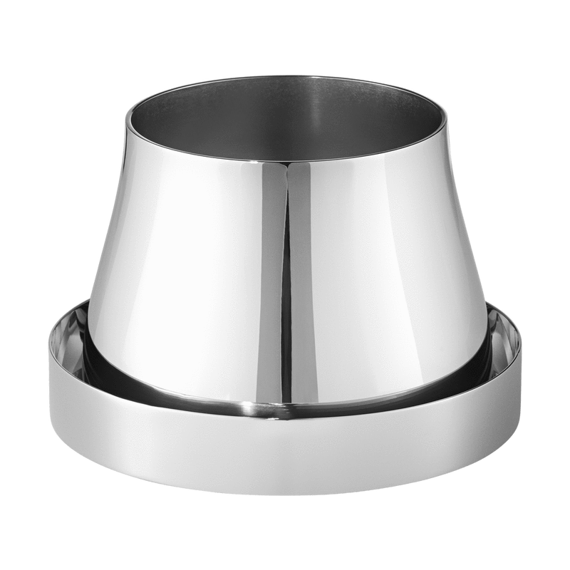 Small Stainless Steel Terra Pot + Saucer