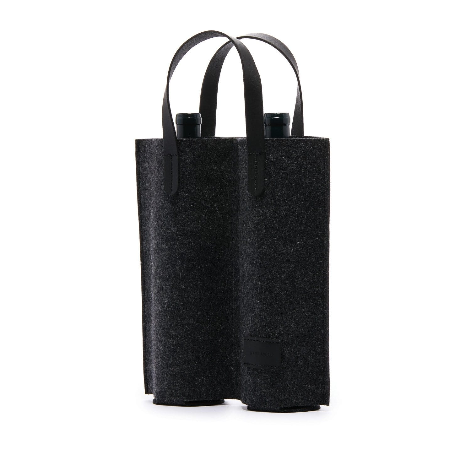 Graf Lantz Wine + Food Carriers Charcoal Cozy Carrier Duo Charcoal Felt
