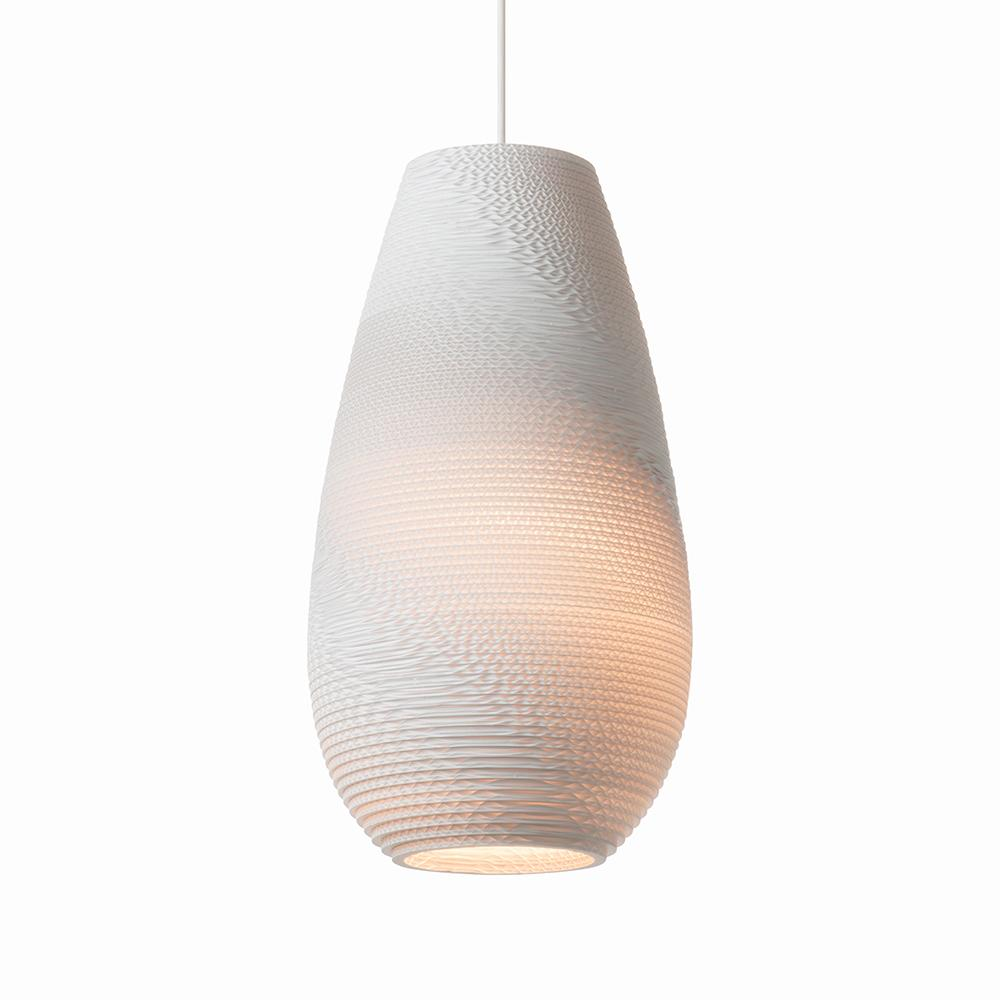 Drop18 White Pendant Light