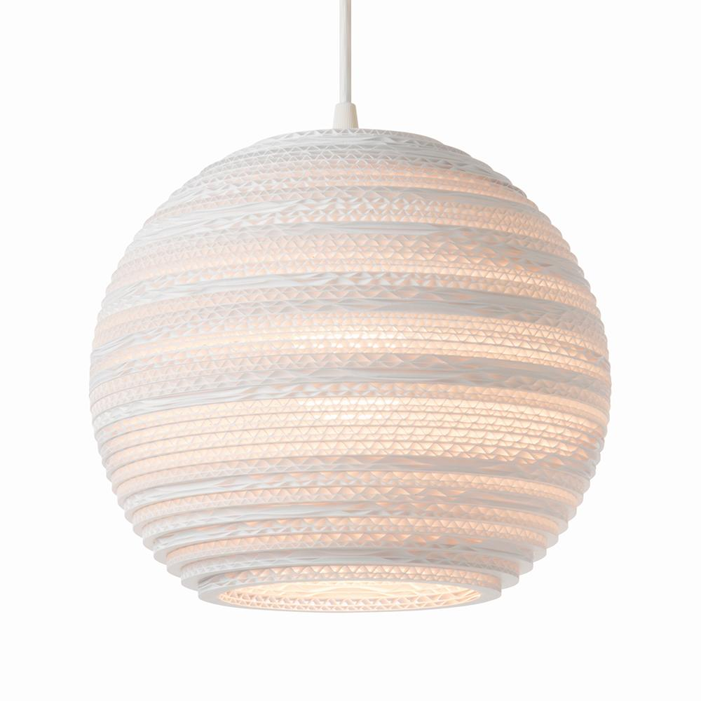 Moon10 White Pendant Light