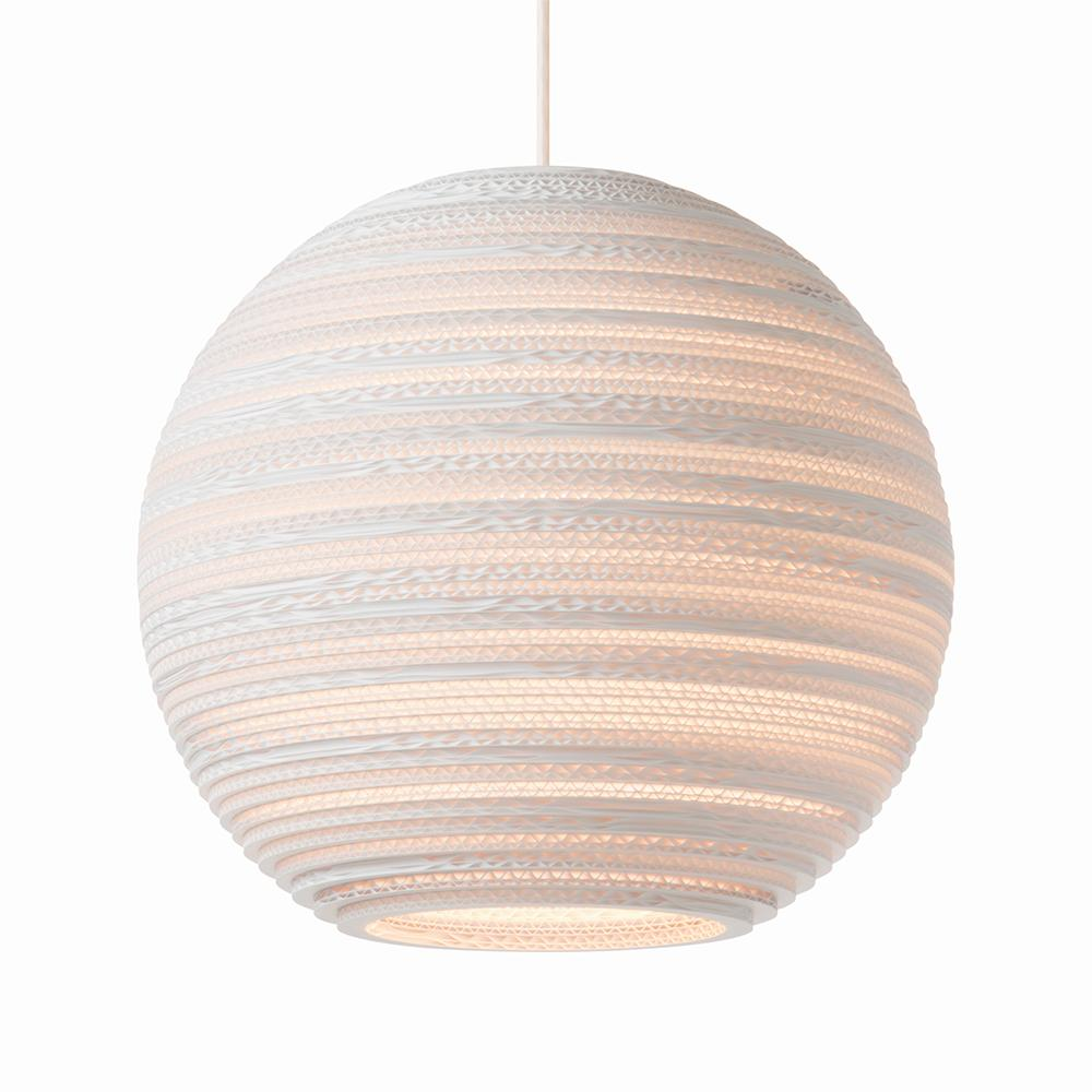 Moon14 White Pendant Light