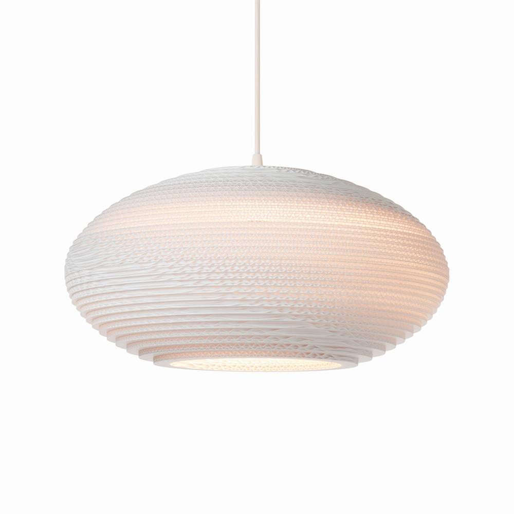 Disc20 White Pendant Light
