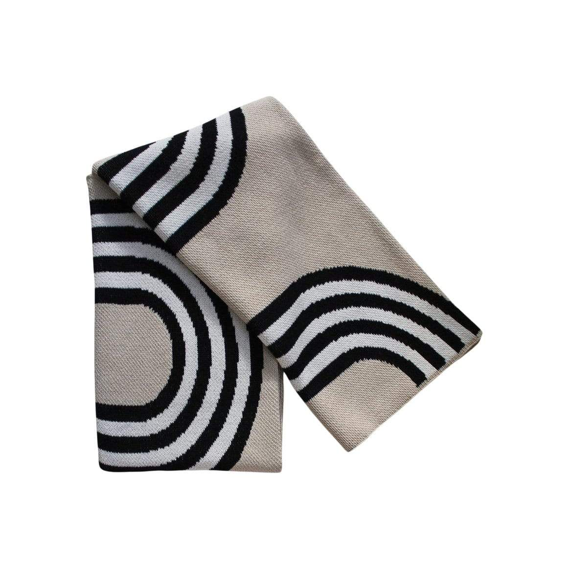 78th street- black / linen throw