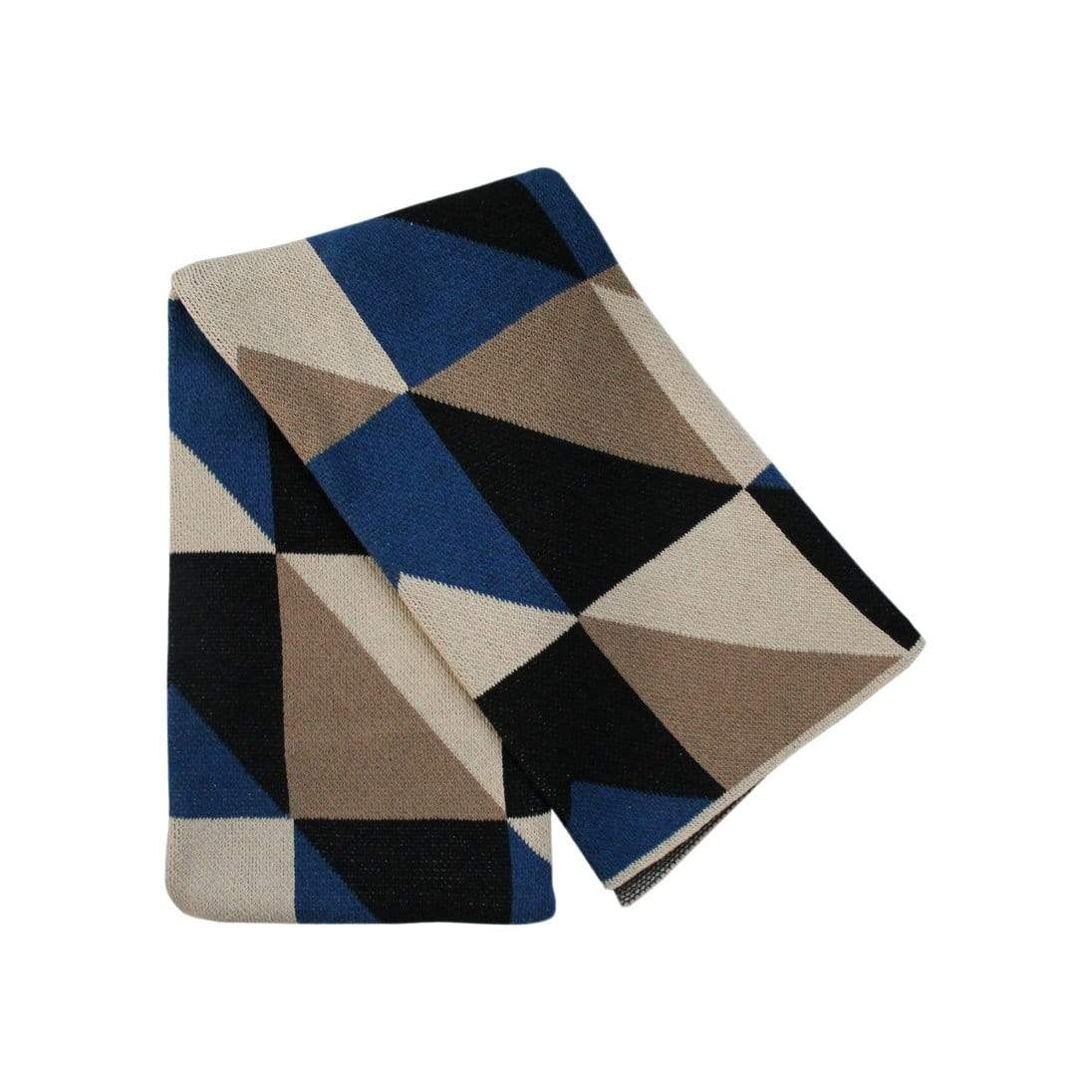 Happy Habitat Cushions + Throws Cobalt Angles Throw