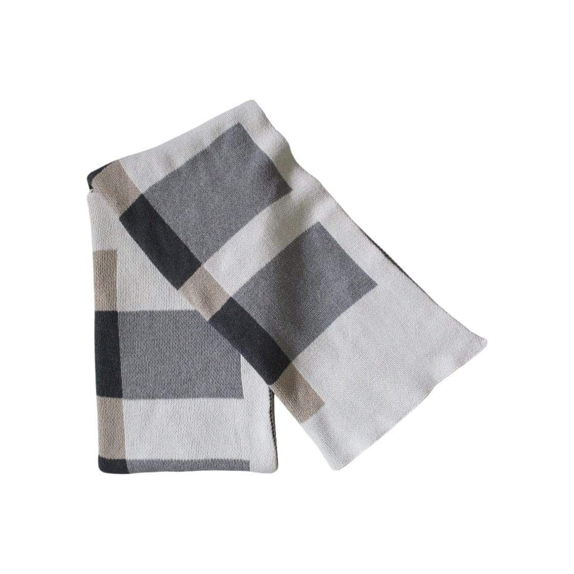 Happy Habitat Cushions + Throws Layers Linen + Grey Throw