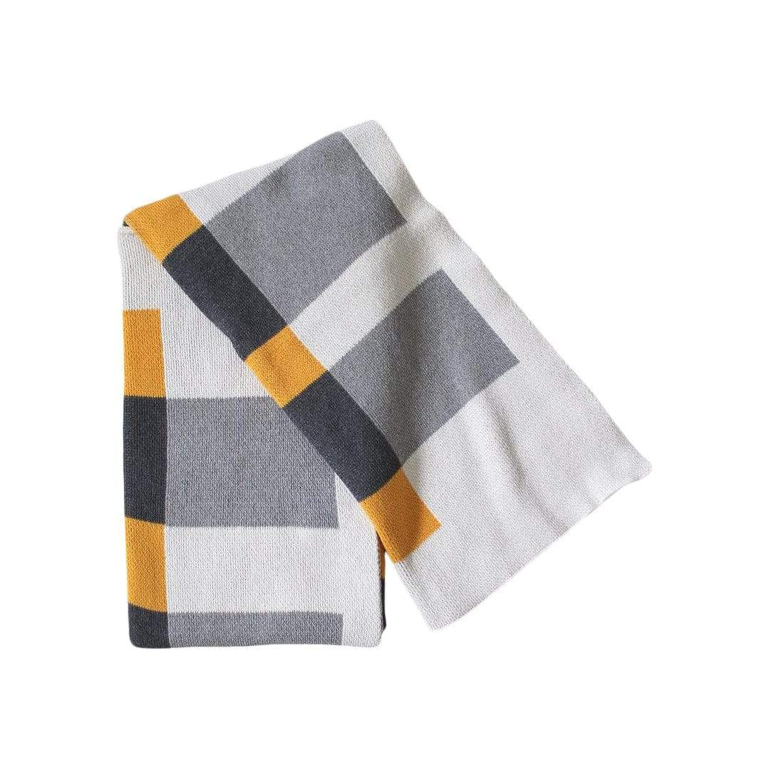 layers- sunny + greys throw