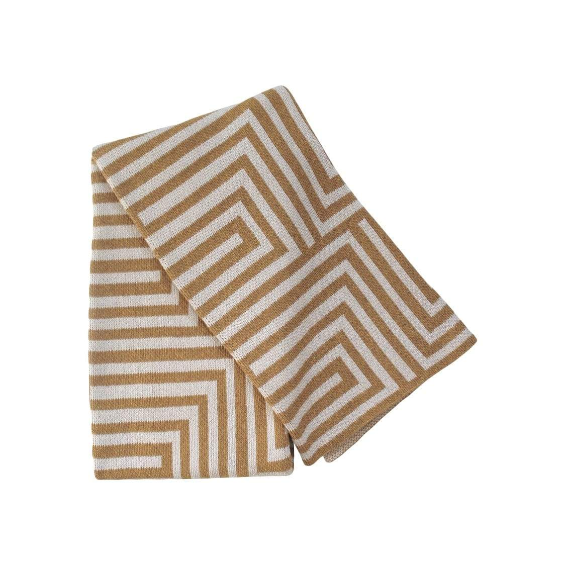 Happy Habitat Cushions + Throws Maze Gold + Linen Throw