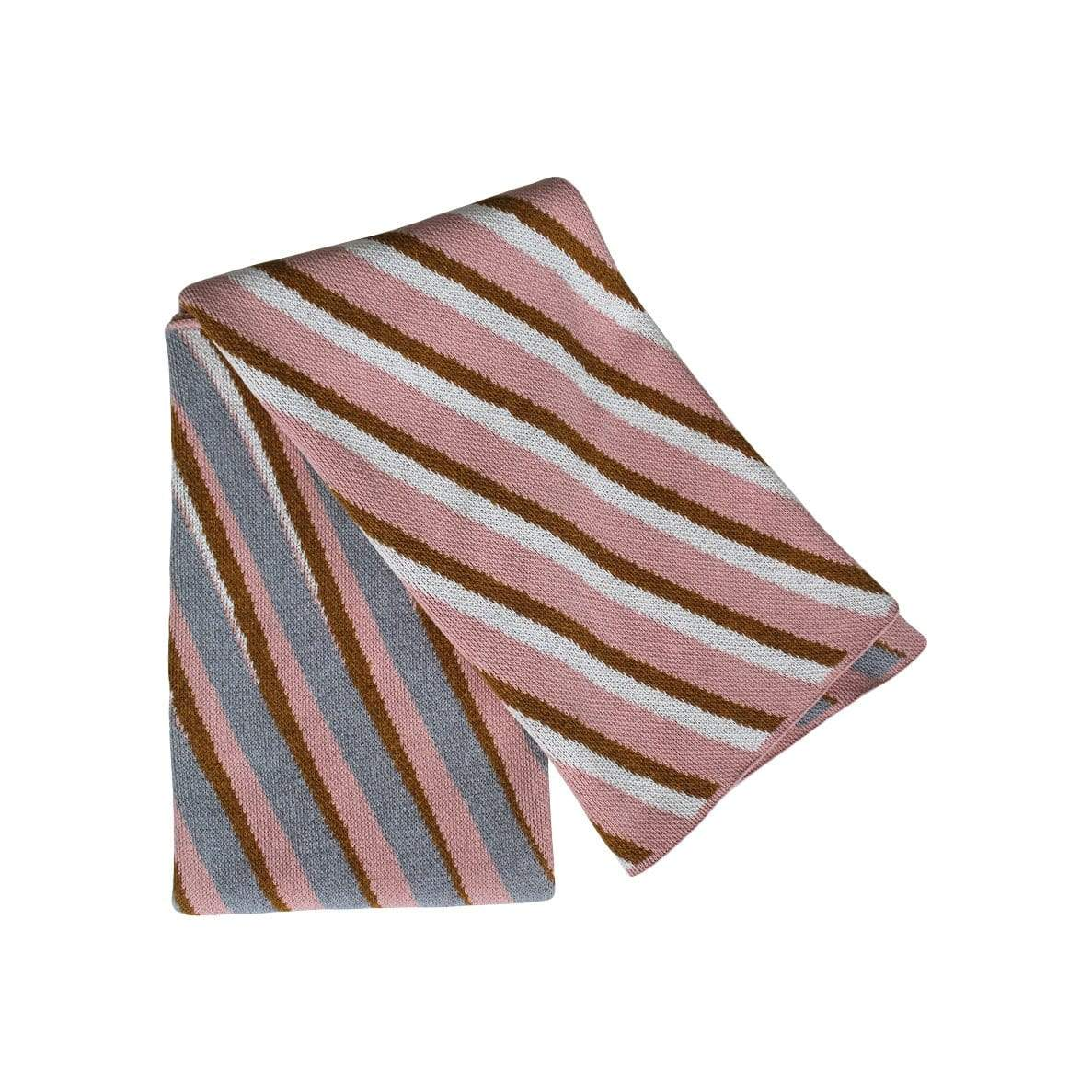 sliding stripes- blush / gold / dove
