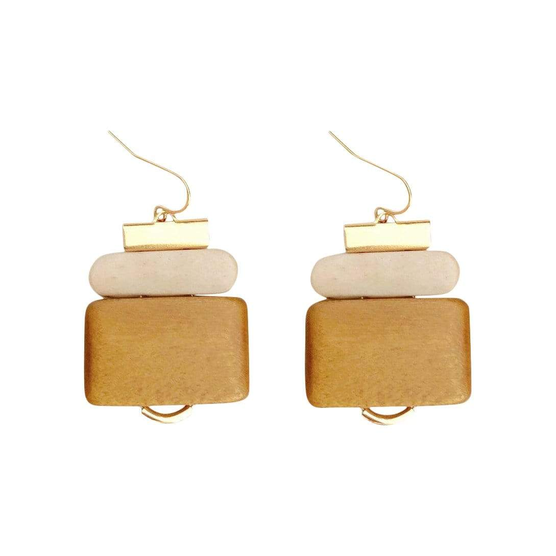 History + Industry Earrings Fir Ochre Earrings