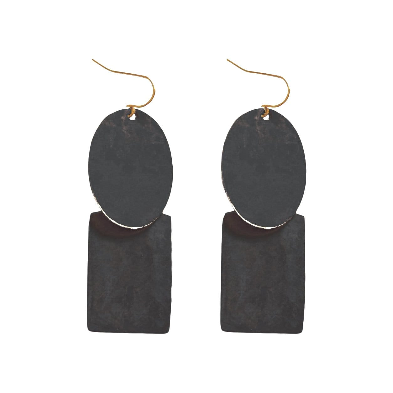 History + Industry Earrings Pebble Black Earrings