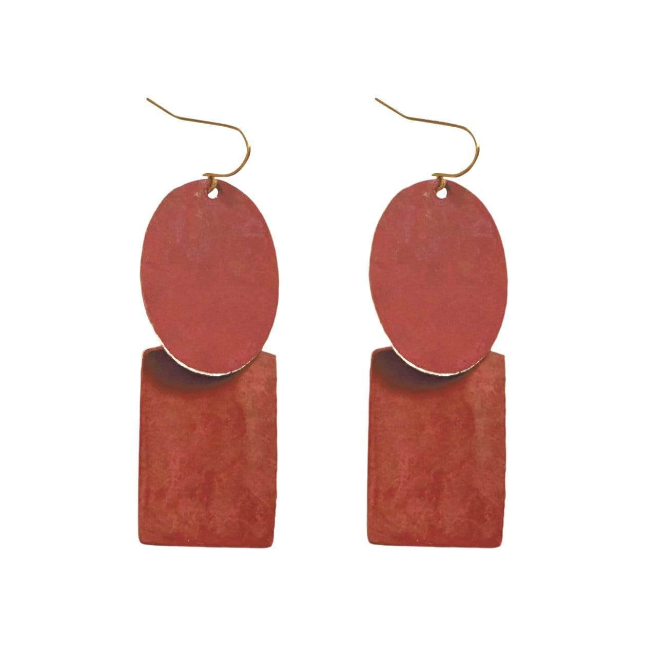 History + Industry Earrings Pebble Maroon Earrings