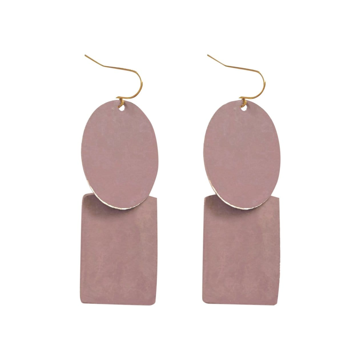 History + Industry Earrings Pebble Mauve Earrings