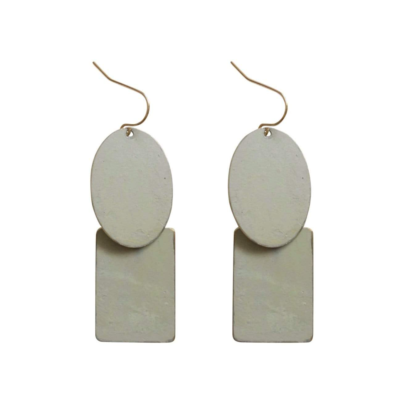History + Industry Earrings Pebble Sage Earrings
