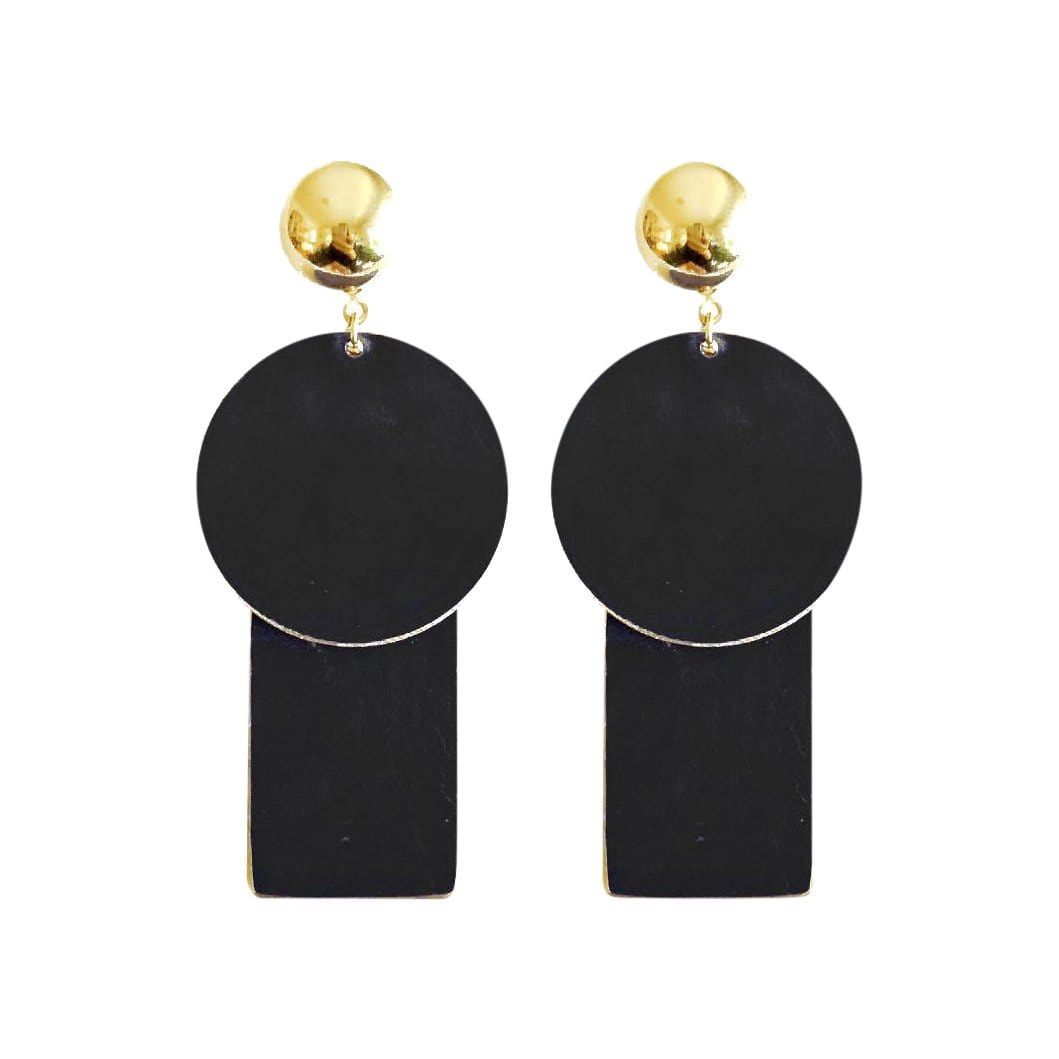 History + Industry Earrings Planet Black Earrings