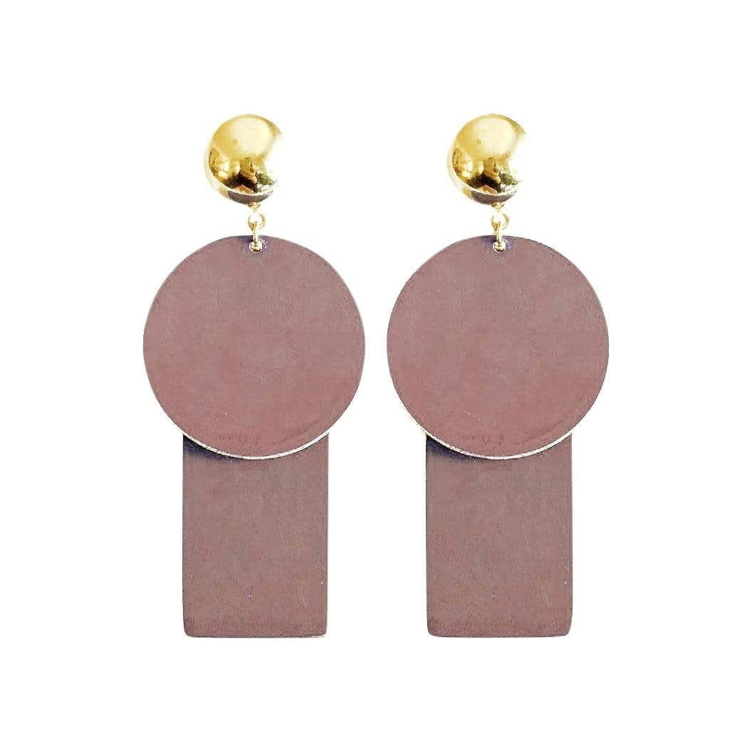 History + Industry Earrings Planet Mauve Earrings
