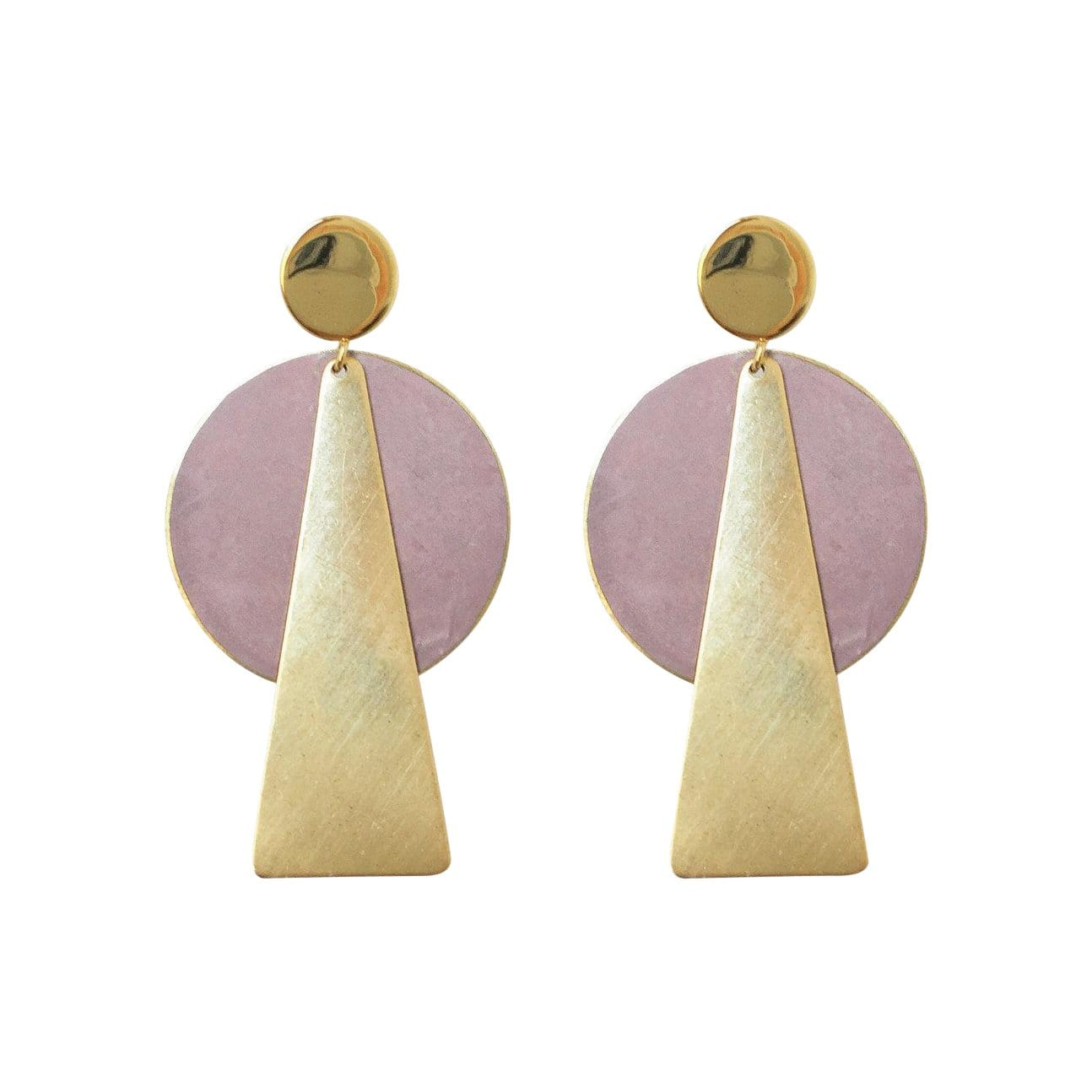 History + Industry Earrings Taurus Mauve Earrings