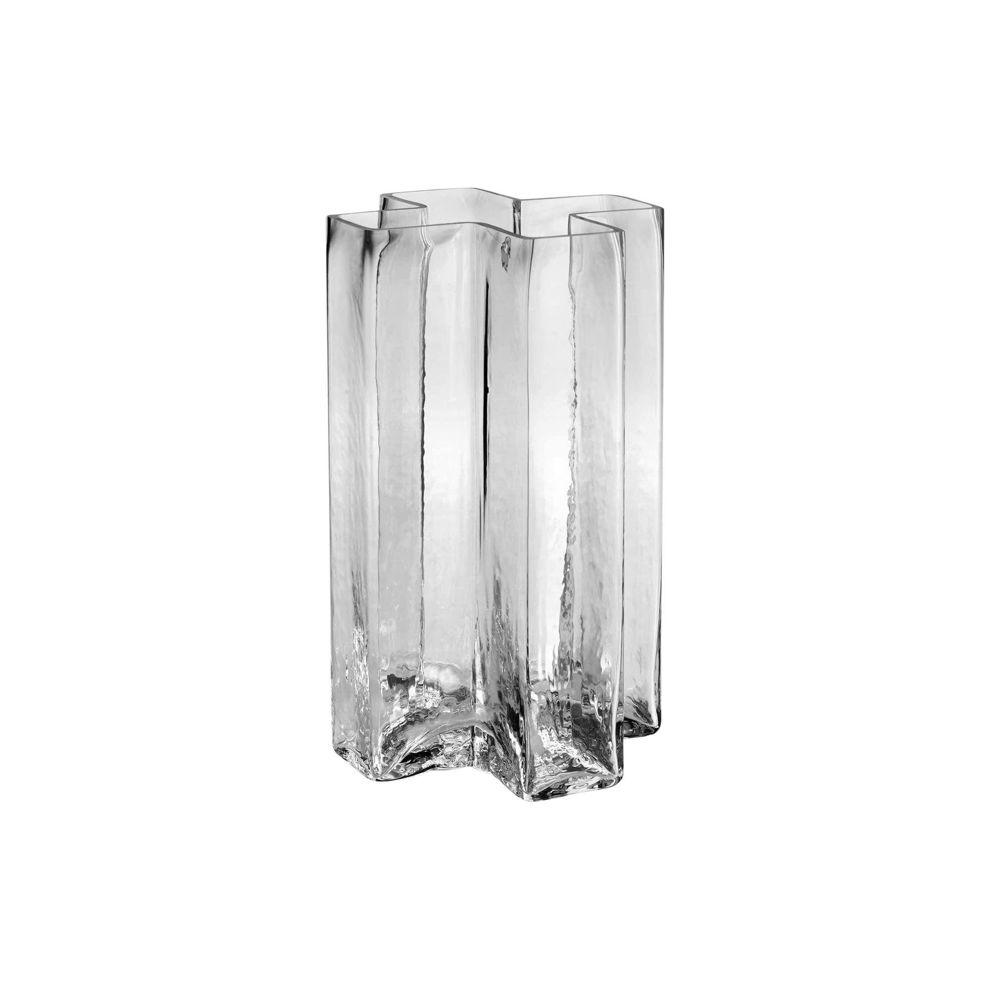 Holmegaard Decor Holmegaard Crosses Vase, Clear, 7""