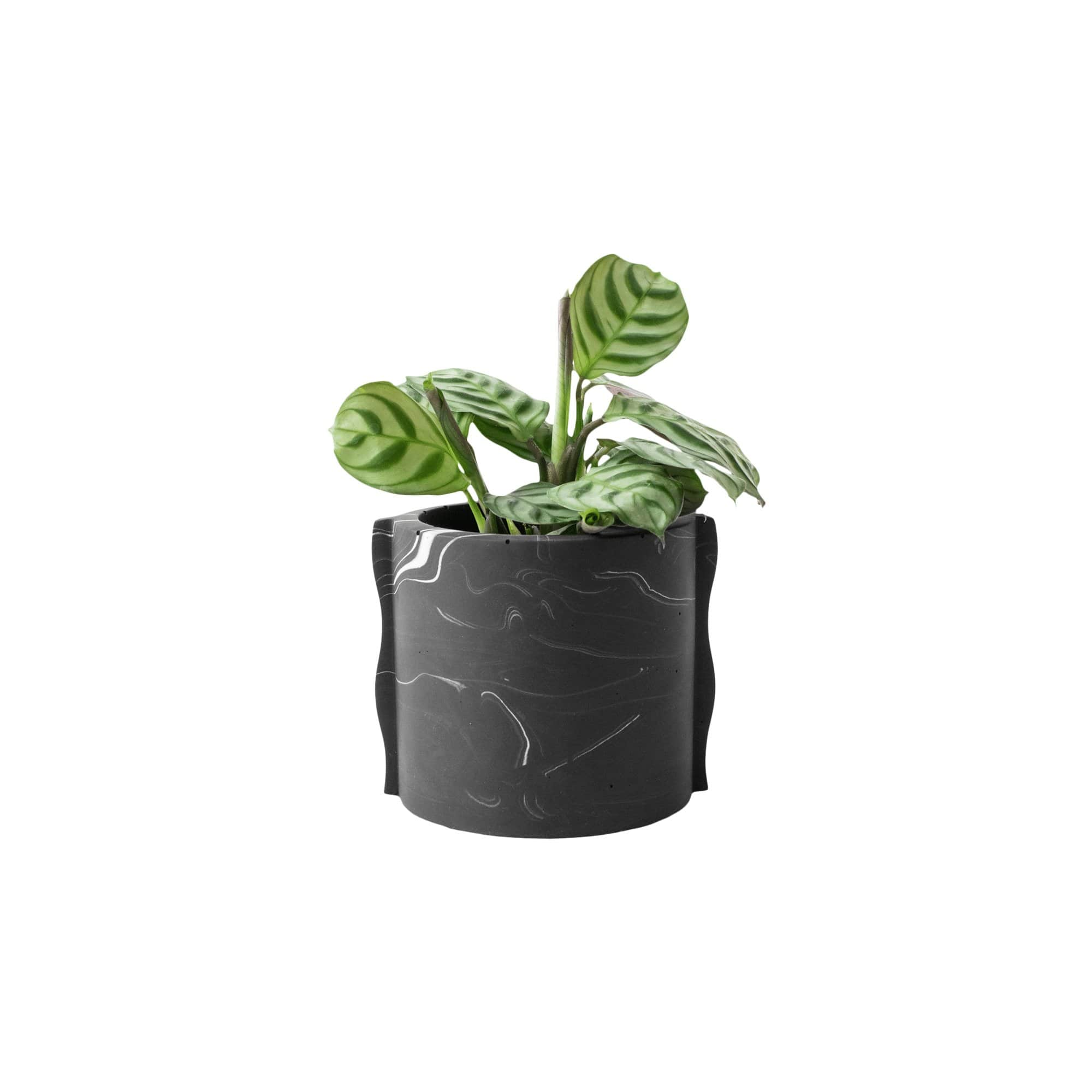 House Raccoon Planters, Pots + Vases Black Marble Noah Planter/ Tealight Holder