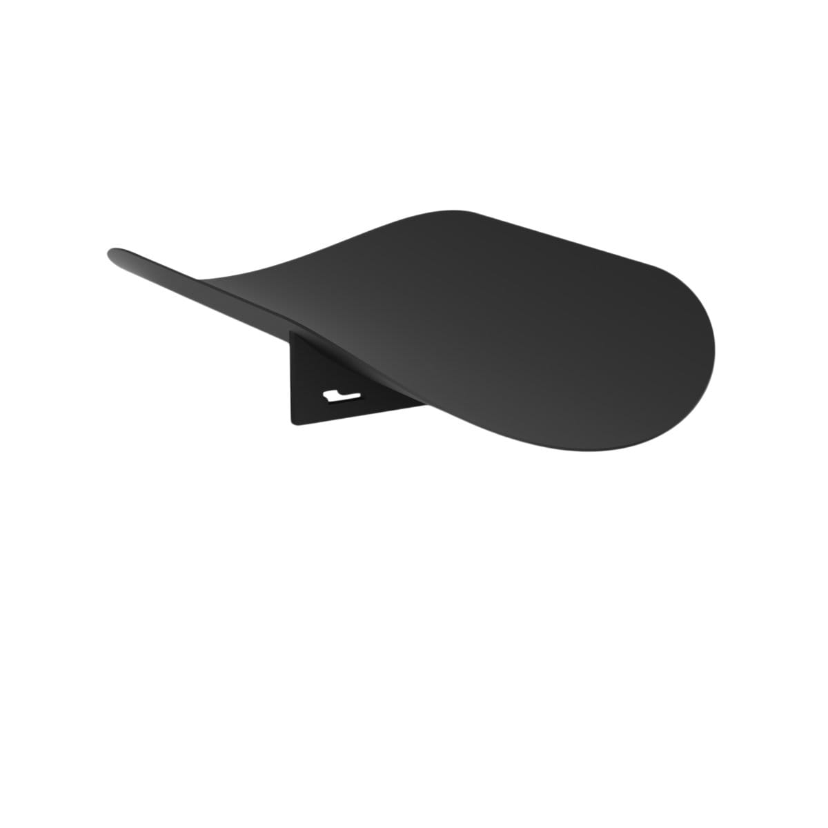 Hue Minimal Decorative Objects Leaf Black Oval Tray