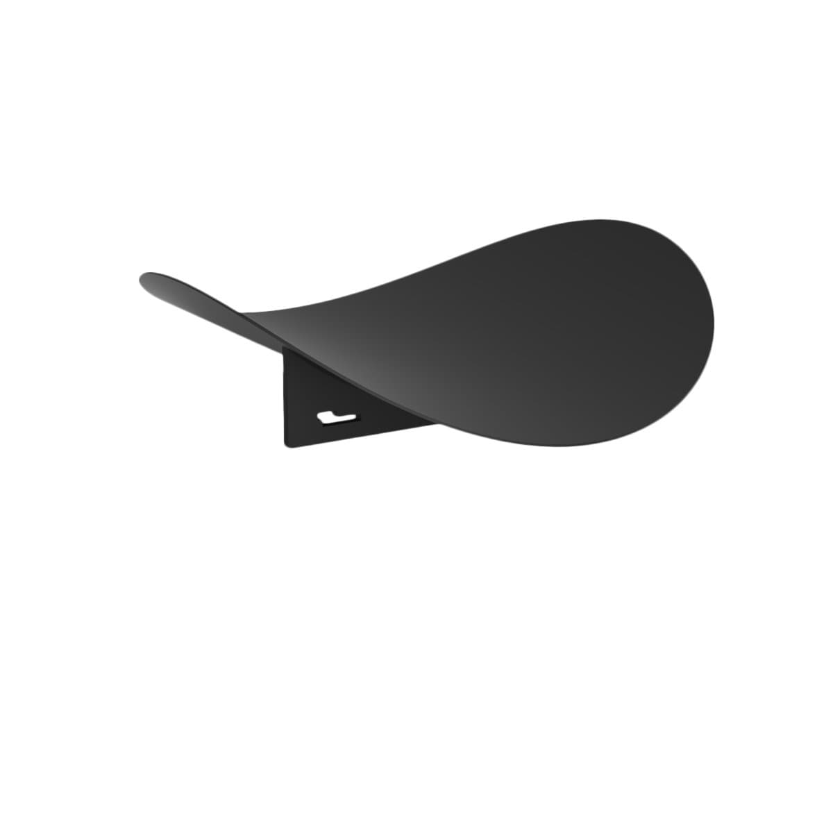 Hue Minimal Decorative Objects Leaf Black Round Tray