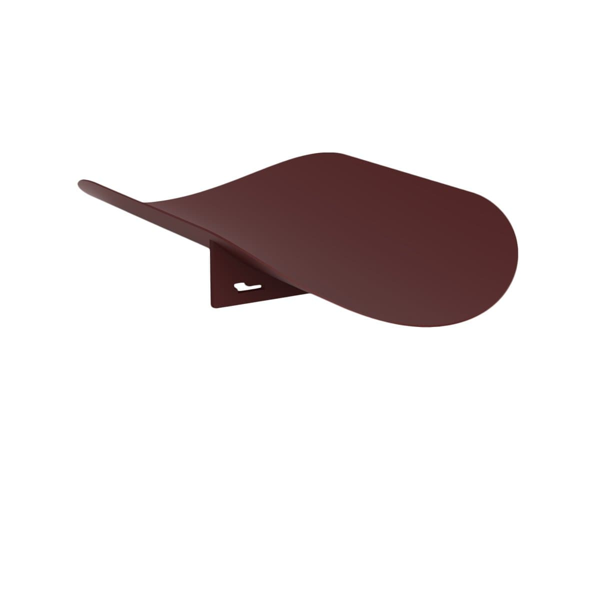 Hue Minimal Decorative Objects Leaf Bordeaux Oval Tray
