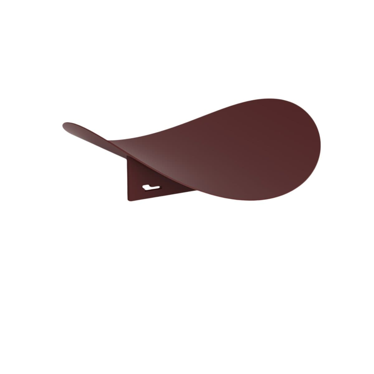 Hue Minimal Decorative Objects Leaf Bordeaux Round Tray