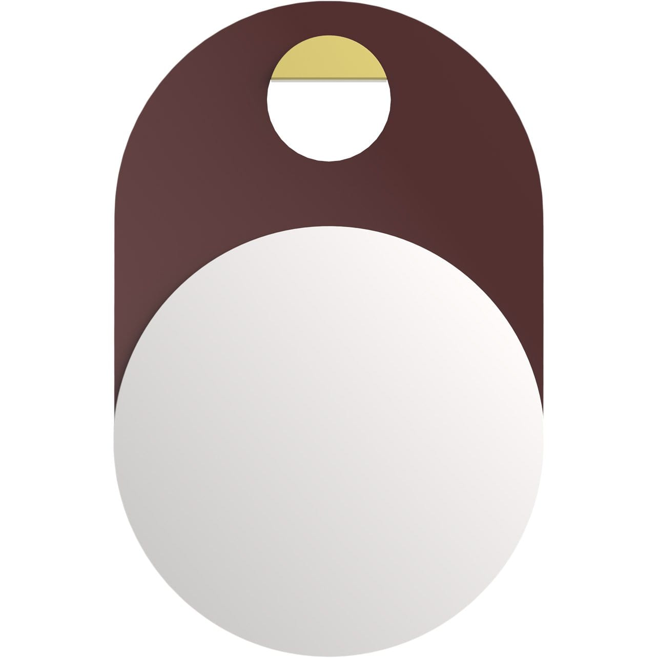 Hue Minimal Mirrors Orbit Bordeaux Wall Mirror