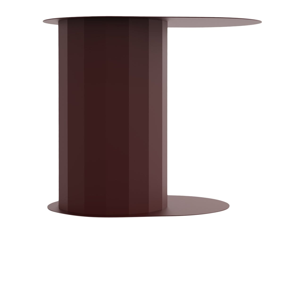 Polygon Bordeaux Side Table