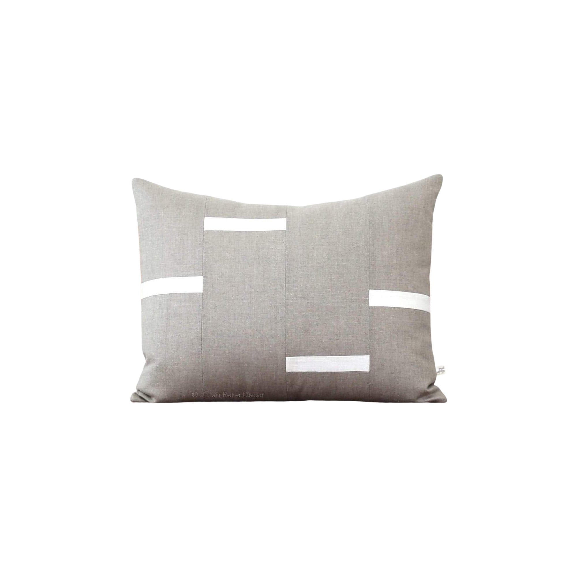 Interconnection Pillow - Natural Linen with Cream Dashes