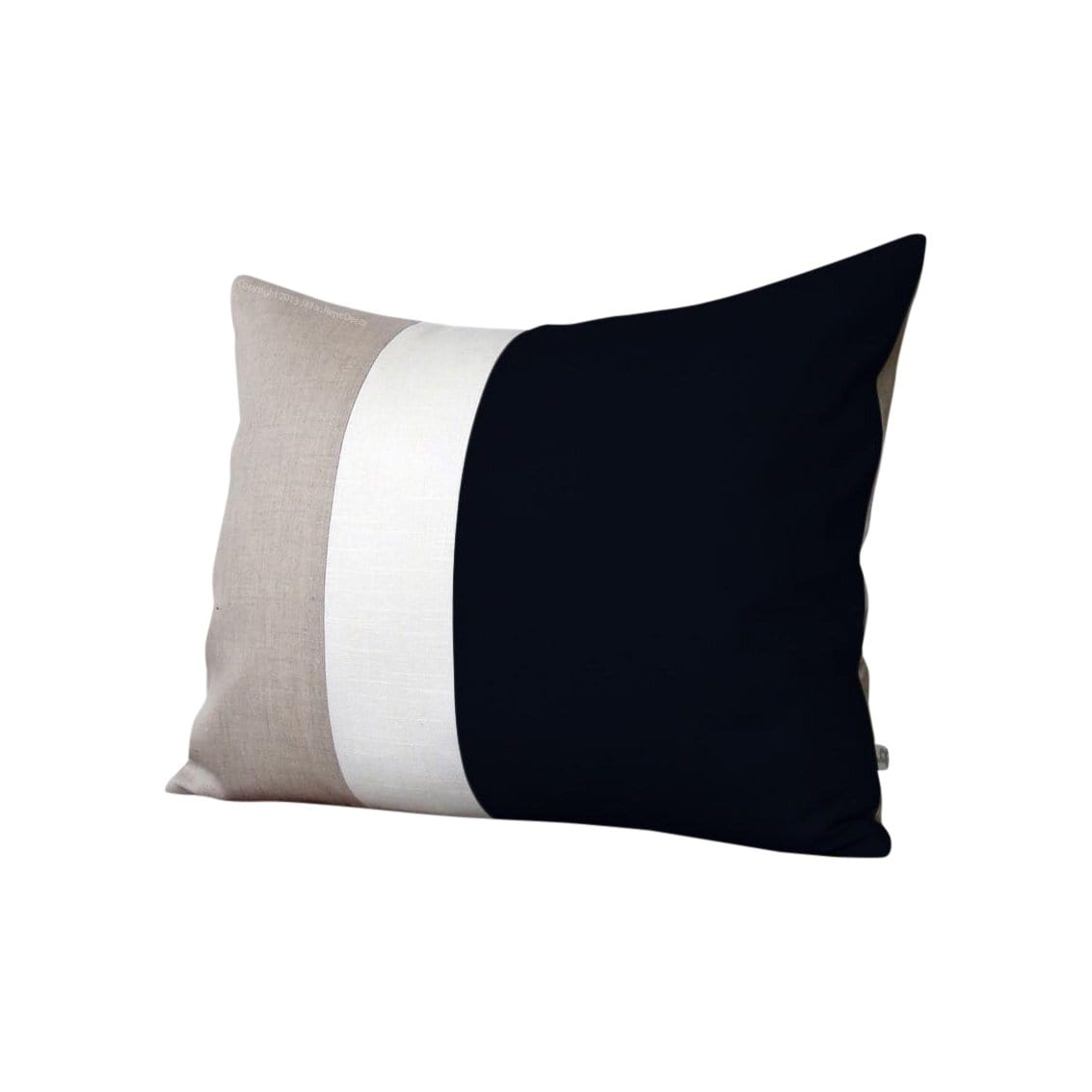Jillian Rene Decor Cushions + Throws Colorblock Black + Cream Pillow
