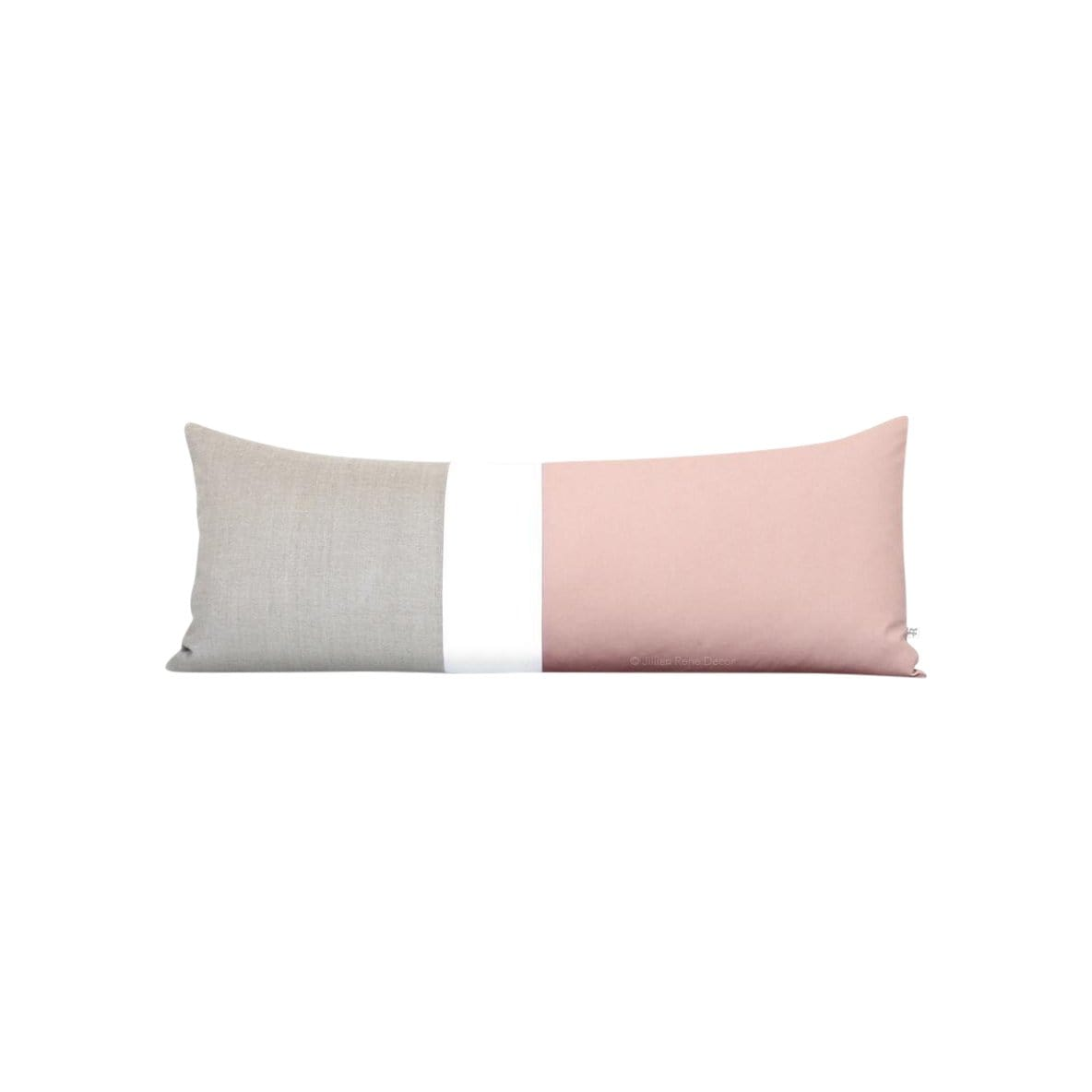 Jillian Rene Decor Cushions + Throws Colorblock Blush + Cream Pillow