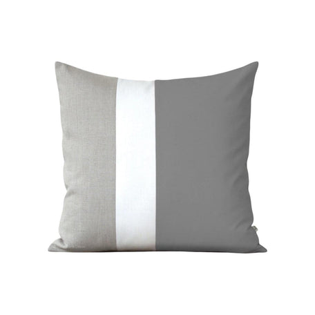Colorblock Grey, Cream + Natural Pillow