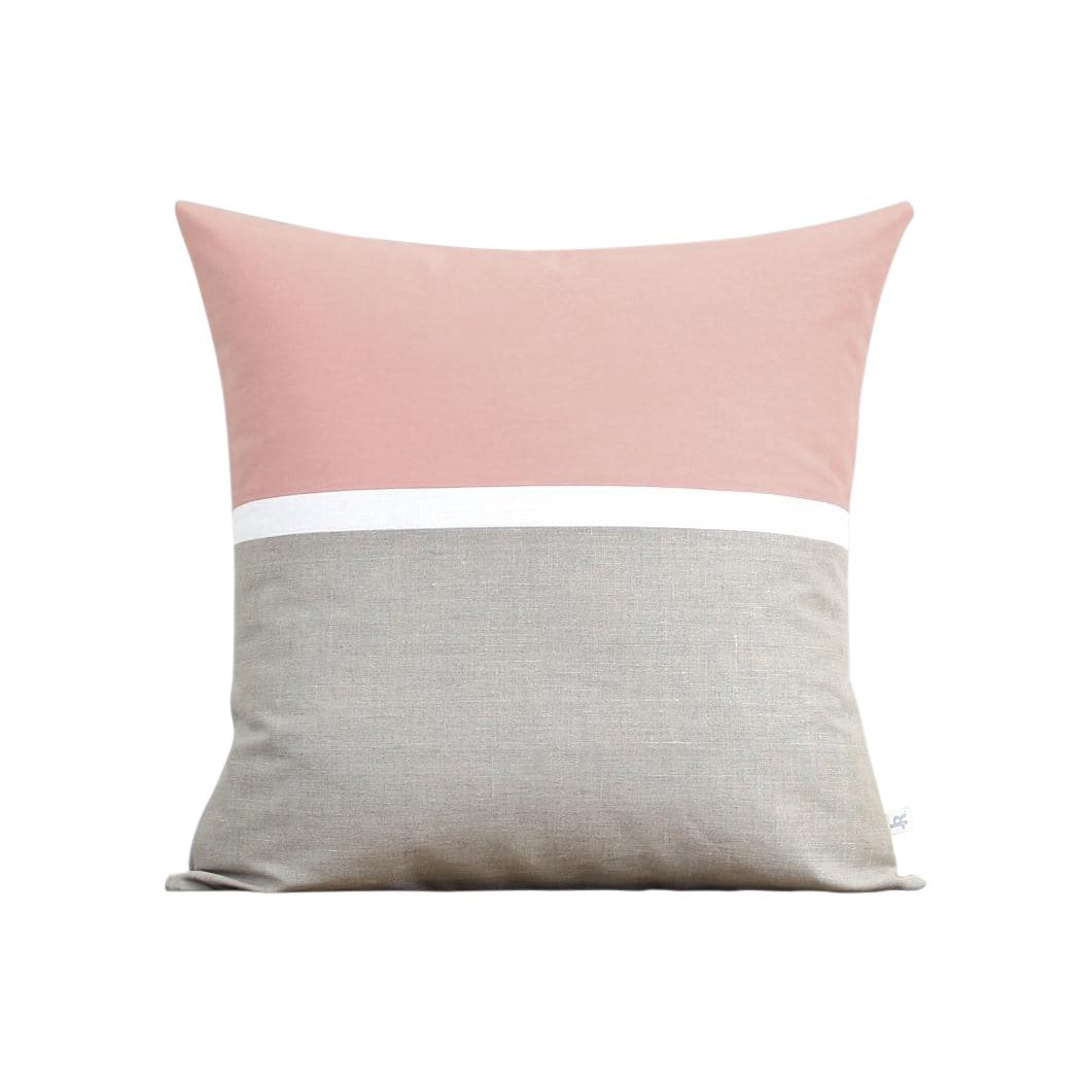 Jillian Rene Decor Cushions + Throws Horizon Line Blush Pillow