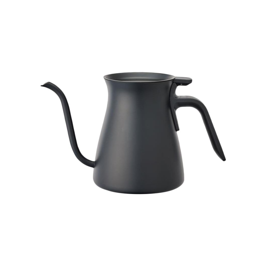 KINTO Coffee + Tea Accessories Black Pour Over Stainless Steel Kettle