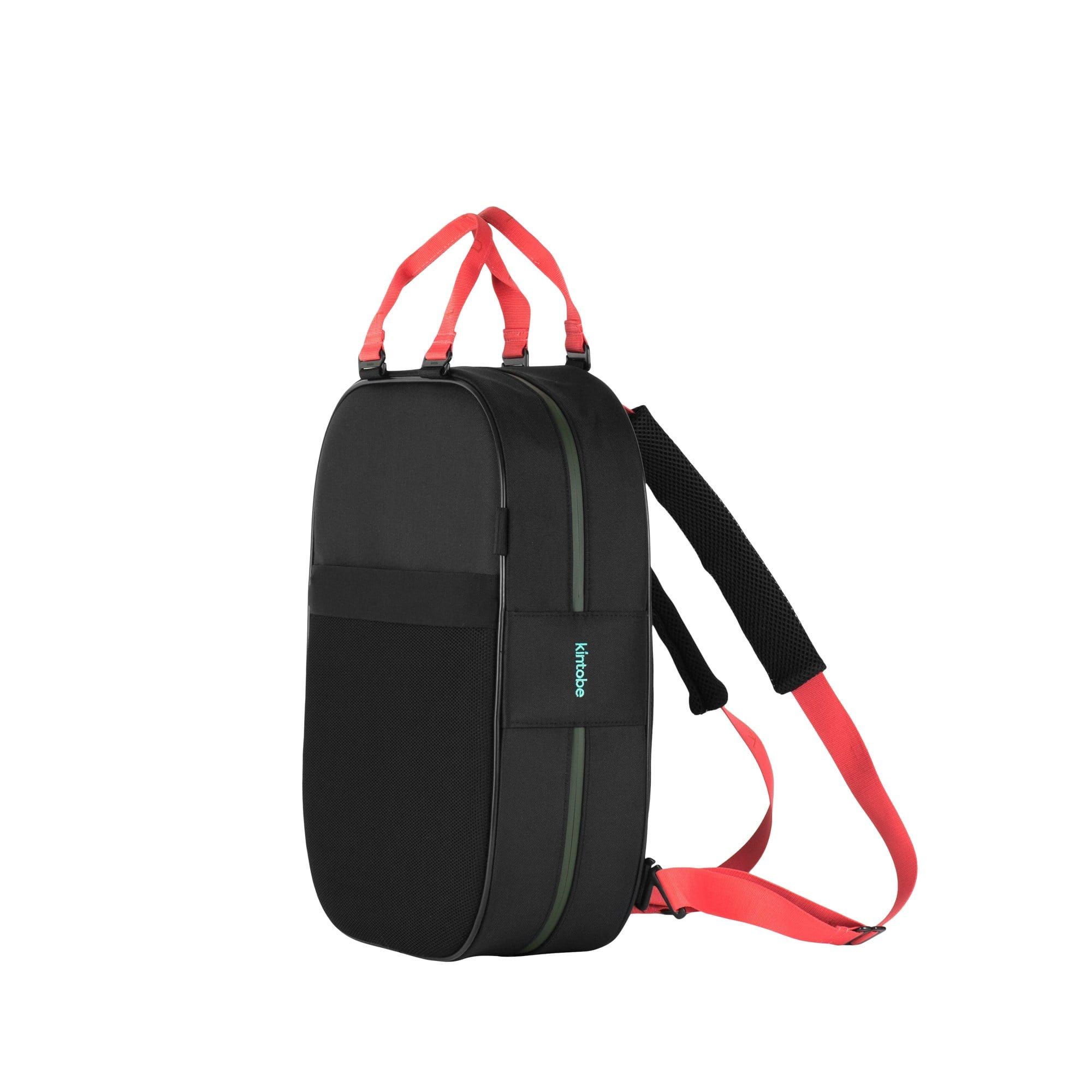 Kintobe Backpacks Coral Straps + Black Backpack