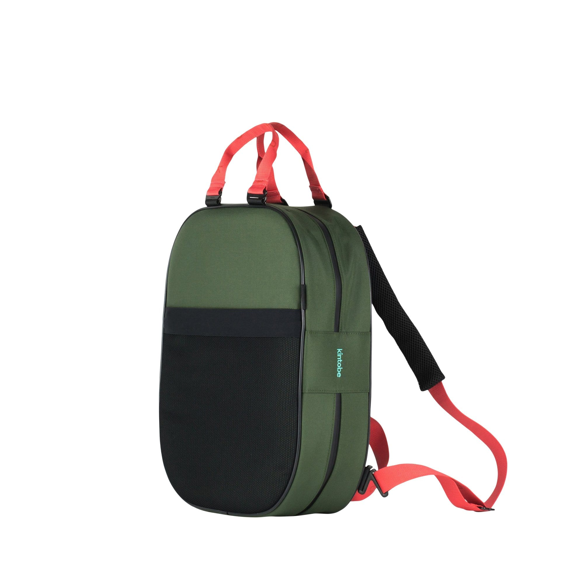 Kintobe Backpacks Coral Straps + Green Backpack