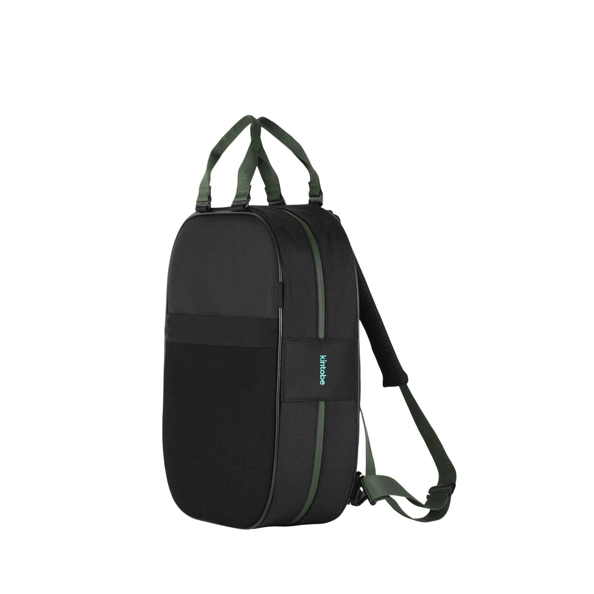 Kintobe Backpacks Green Straps + Black Backpack