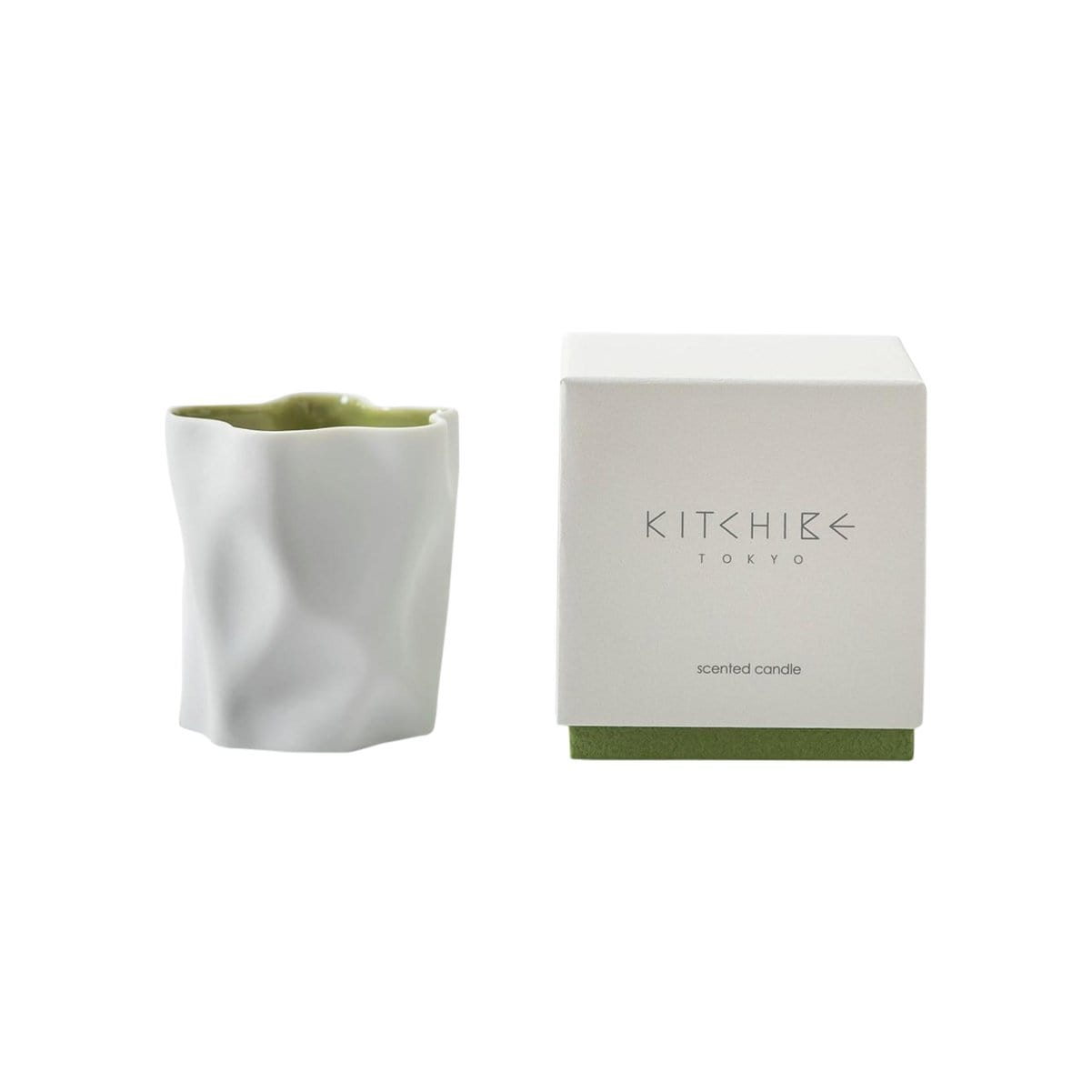 Kitchibe Candles, Diffusers + Incense Matcha Crinkle Candle