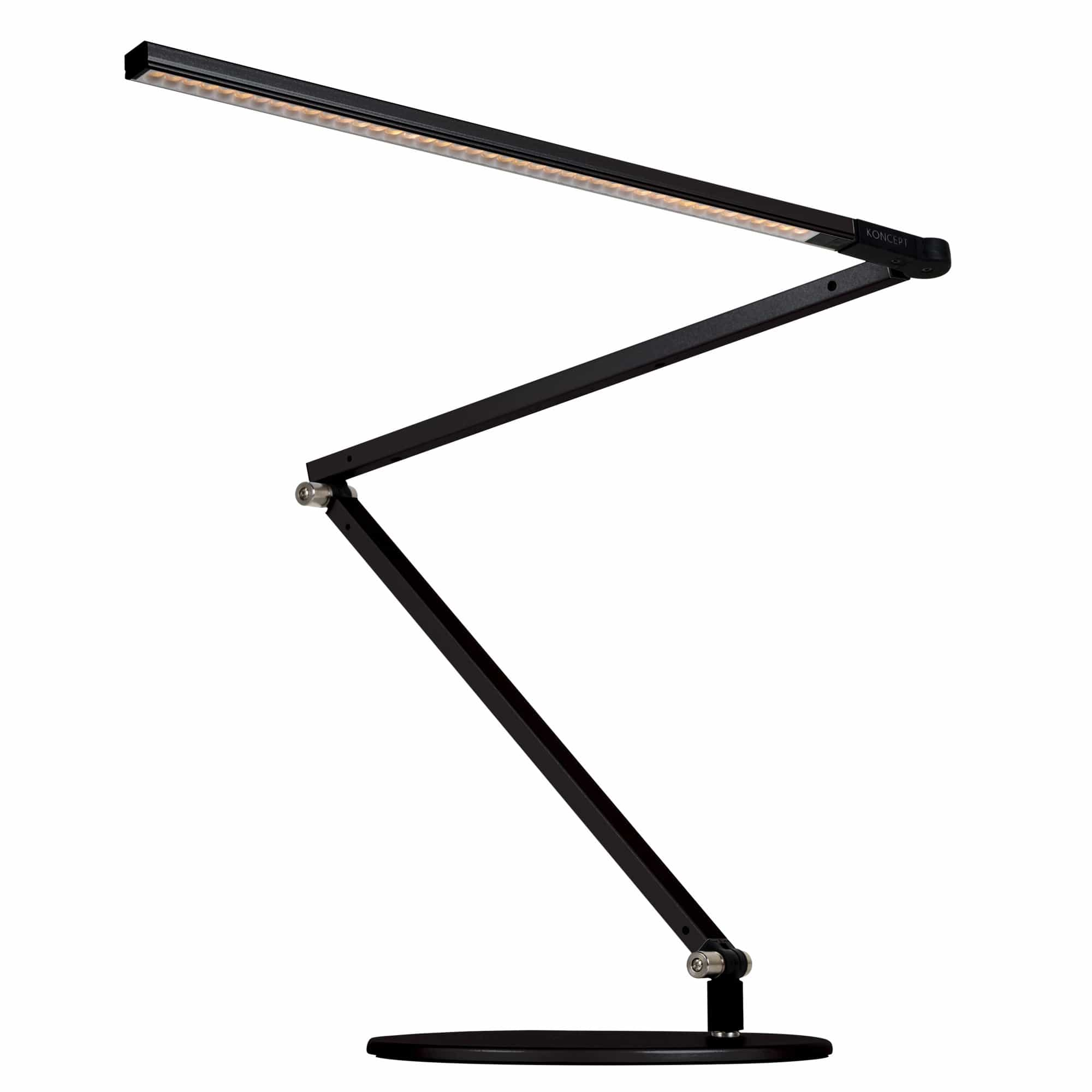 Koncept Table Metallic Black / Warm Diffused / Desk base (standard) Z Bar Desk Lamp