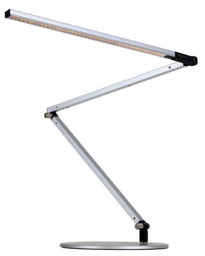 Koncept Table Silver / Warm Diffused / Desk base (standard) Z Bar Desk Lamp