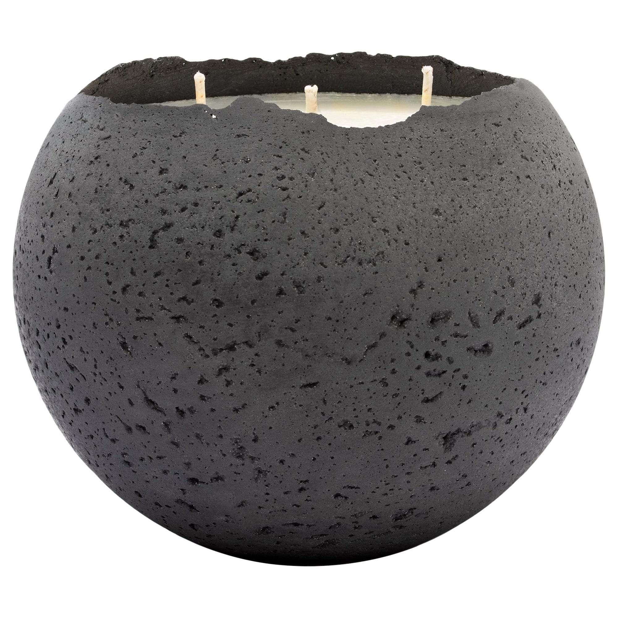 Konzuk Candles + Diffusers Charcoal XL Orbis 3-Wick Concrete Candle