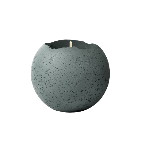 Evergreen Large Orbis Concrete Candle