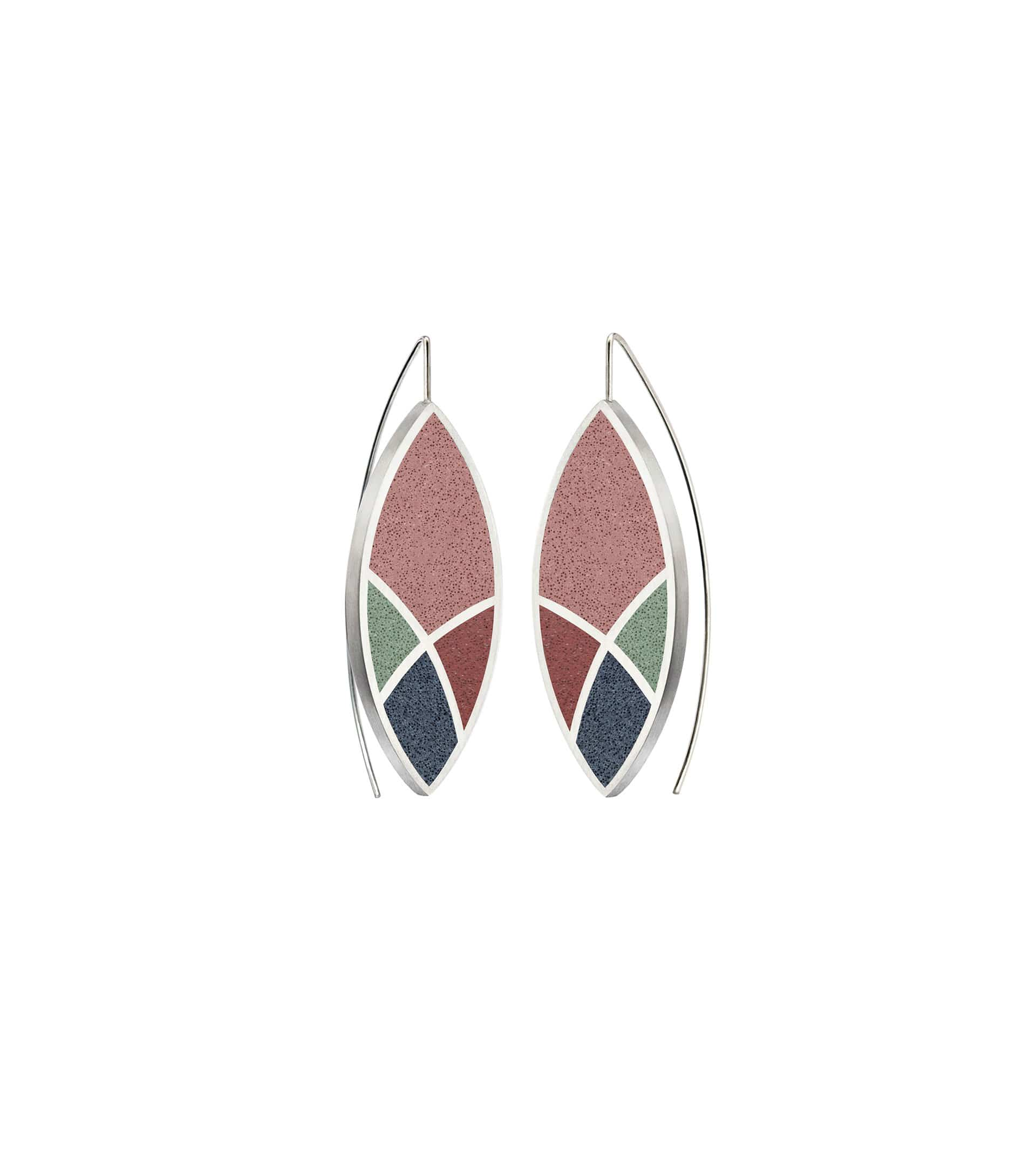 Konzuk Earrings March Balloons - Leaf Concrete Earring Drops 3