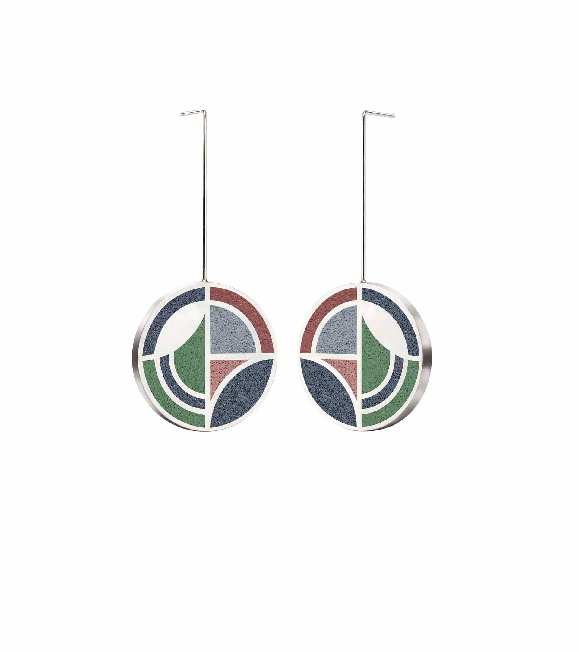 Konzuk Earrings Saguaro - Concrete Earring Drops 1