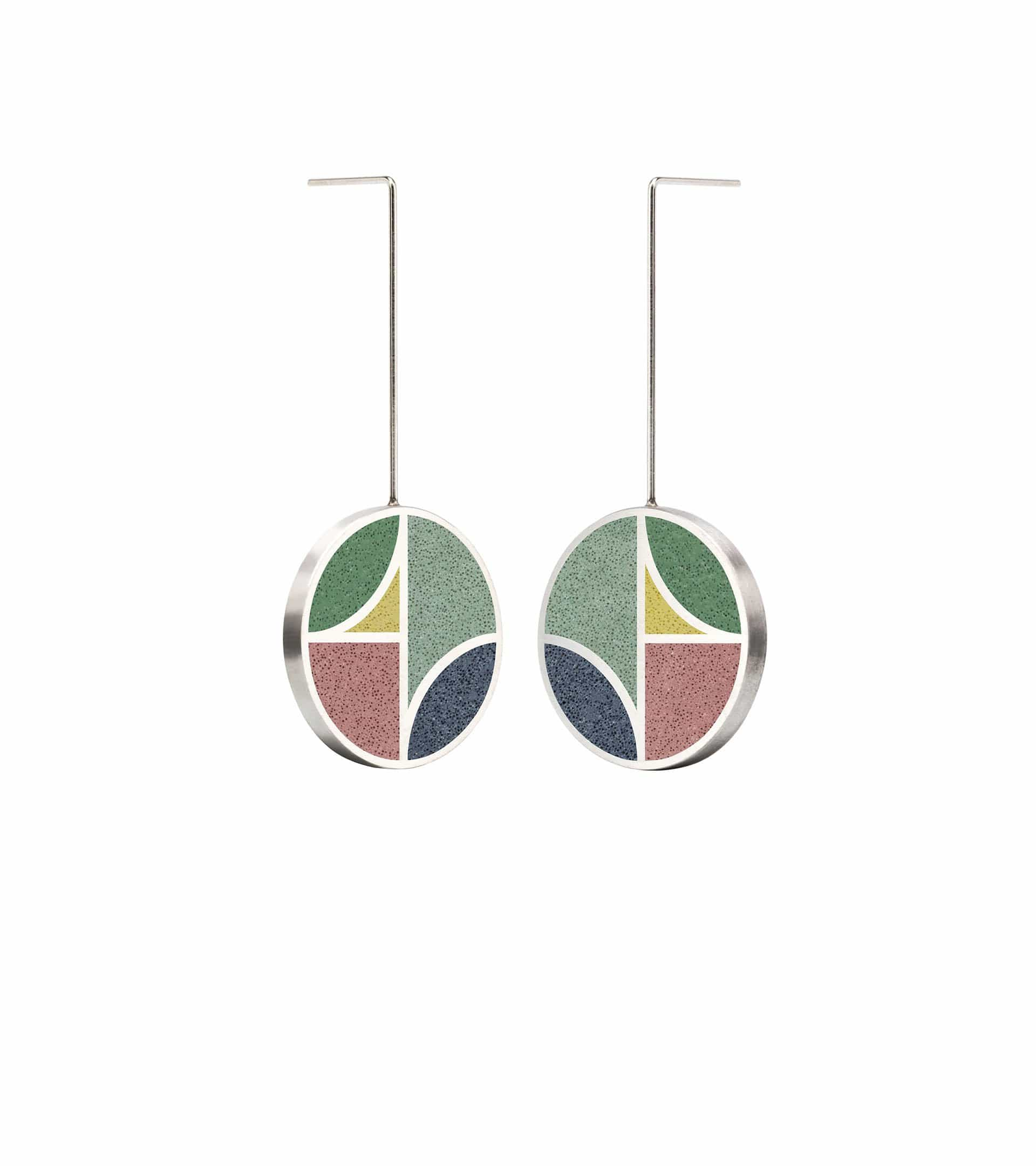 Konzuk Earrings Saguaro - Concrete Earring Drops 2