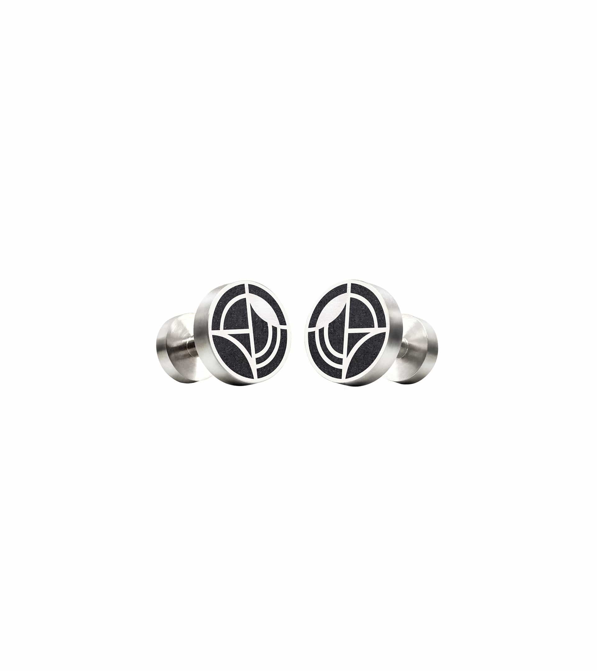 Konzuk Men K - Black Saguaro Concrete Cufflinks 1